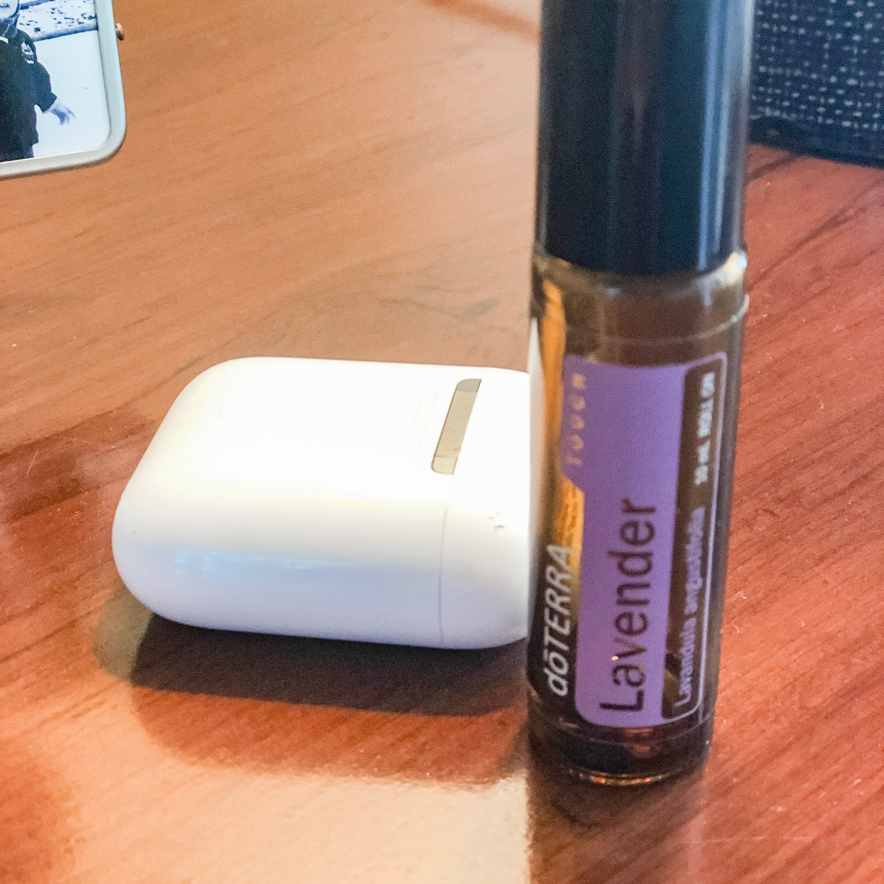 DoTerra Lavender and Airpods