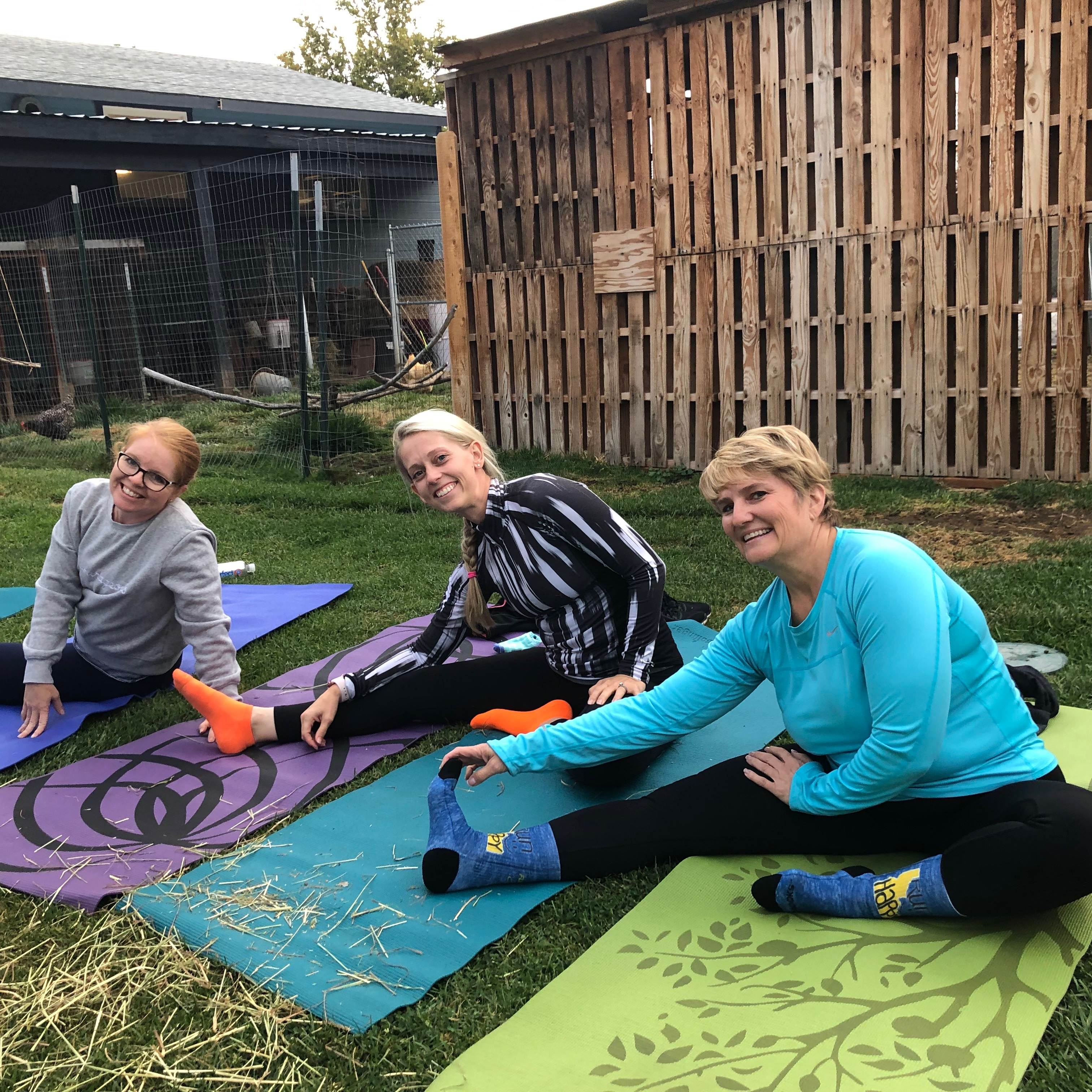 Boise Goat Yoga with Friends